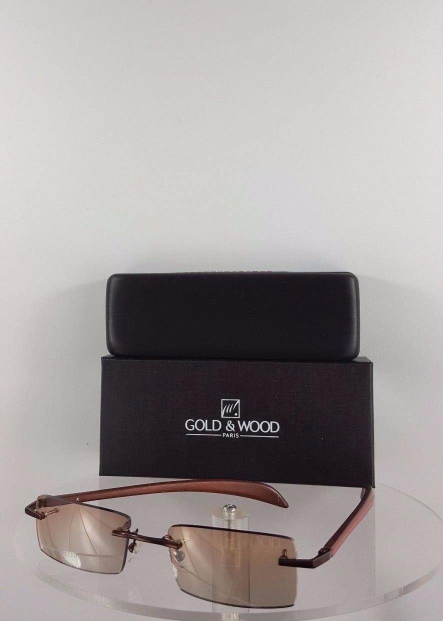 Gold and Wood A06 33 Brown Red Sunglasses