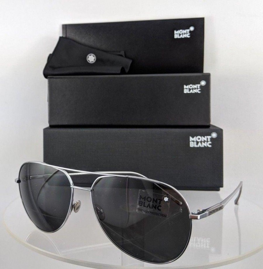 Mont Blanc Mb 657/S 16A Silver Sunglasses