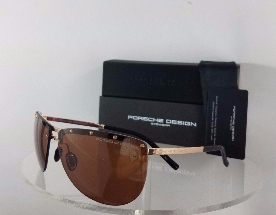 Porsche Design P 8577 C Gold Sunglasses