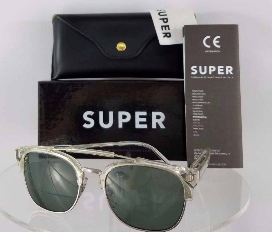 Retrosuperfuture 49er 464 2T Clear Sunglasses