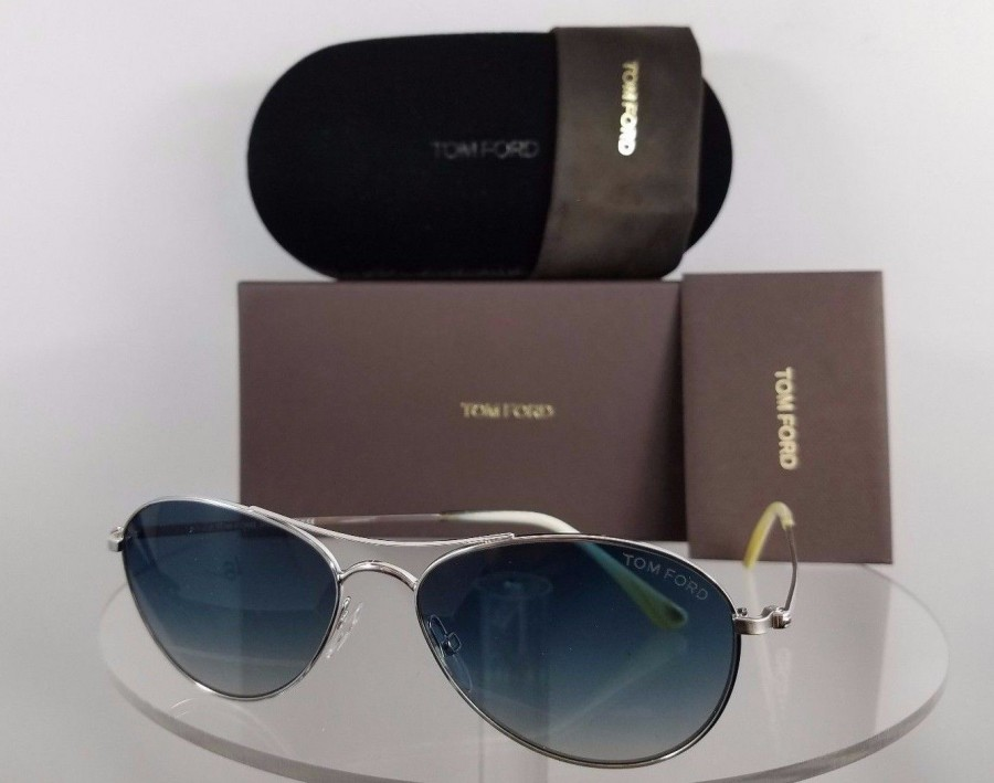 Tom Ford FT 495 Oliver 18W Silver Sunglasses