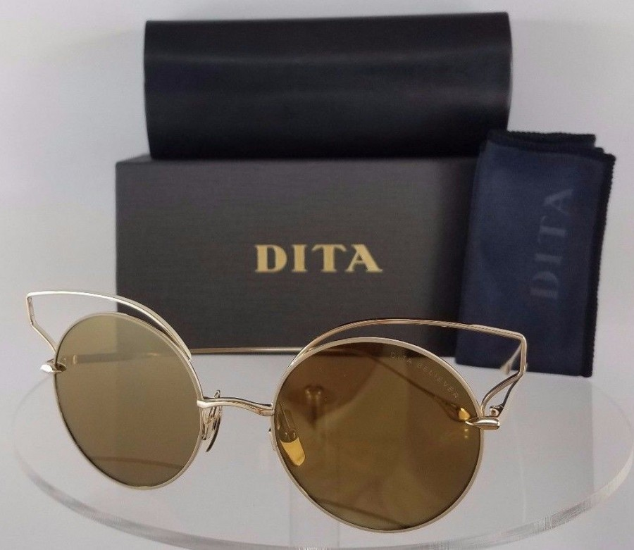 Dita Believer 23008-B-TAN-GLD Gold Sunglasses