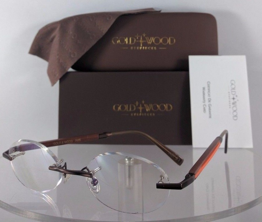 Gold and Wood BOv33 A07.33 Brown Eyeglasses