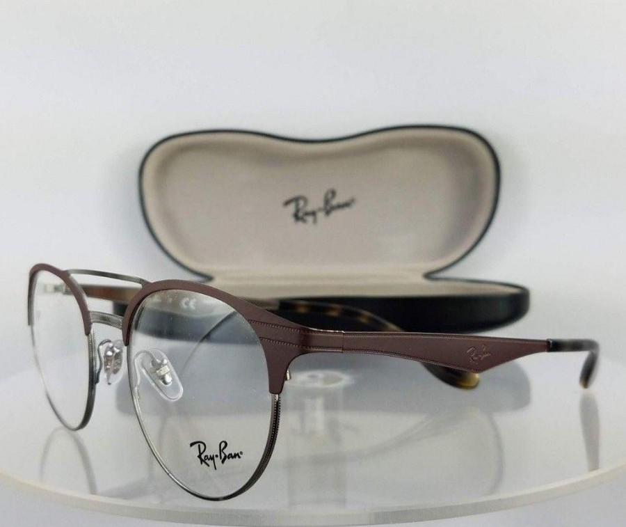 Ray Ban RB3545 2912 Brown Silver Eyeglasses
