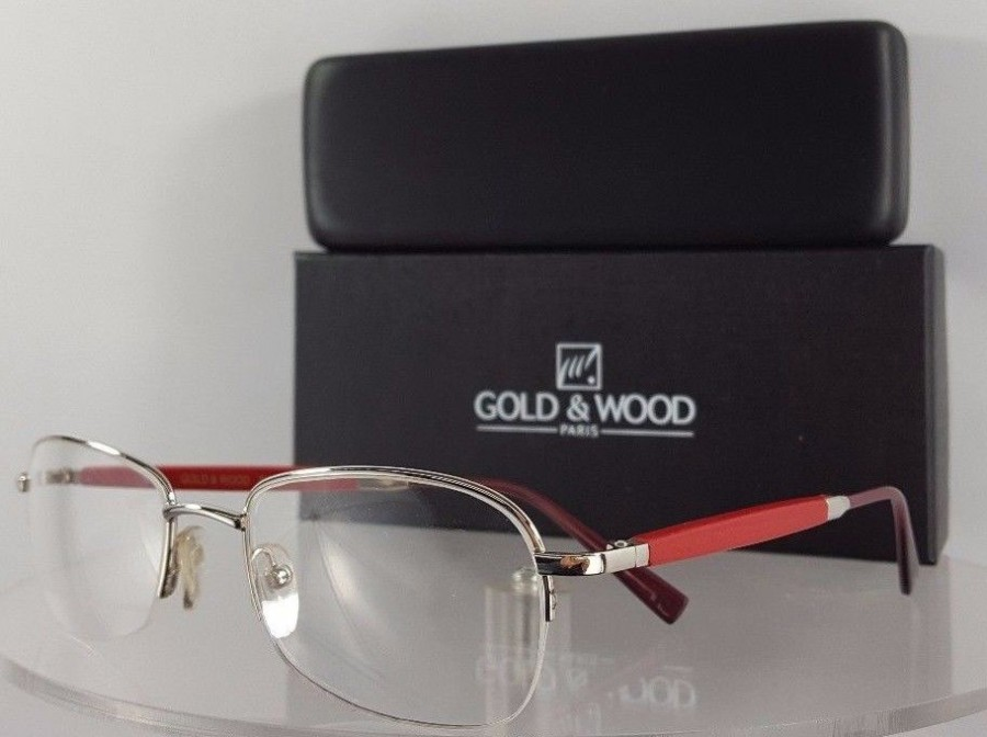 Gold and Wood 369 16 Red Eyeglasses