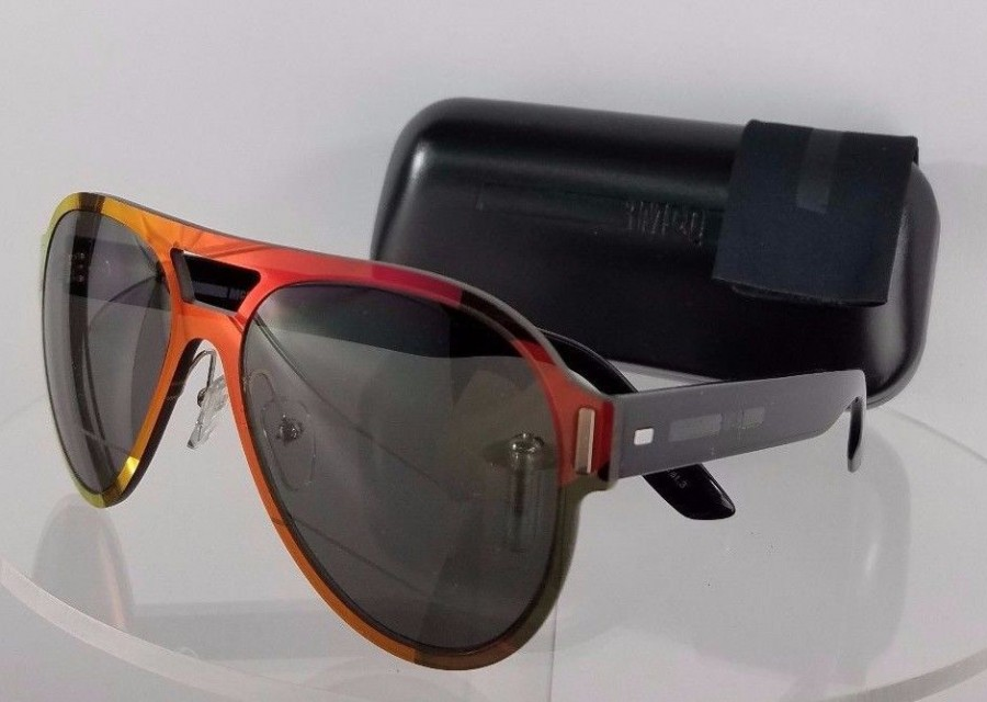 Alexander McQueen MQ0022S 005 Orange Sunglasses