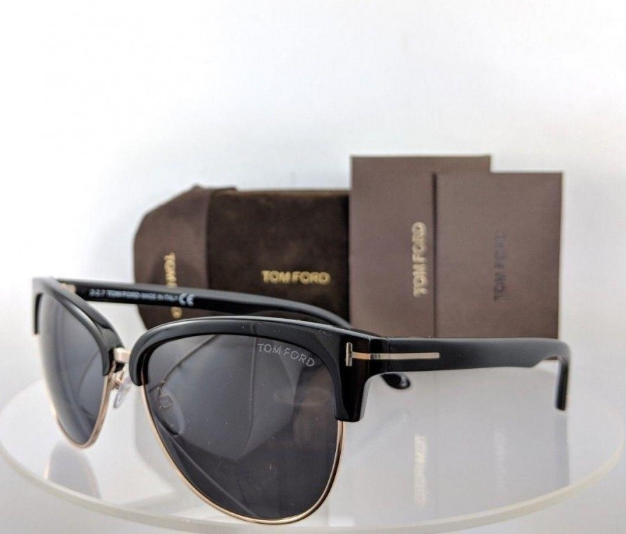 Tom Ford FT 368 01A Black and Gold Sunglasses