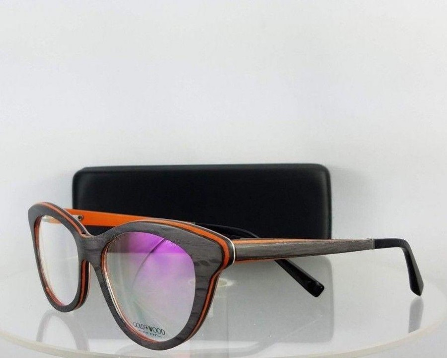 Gold and Wood EPI 01 Black Orange Eyeglasses