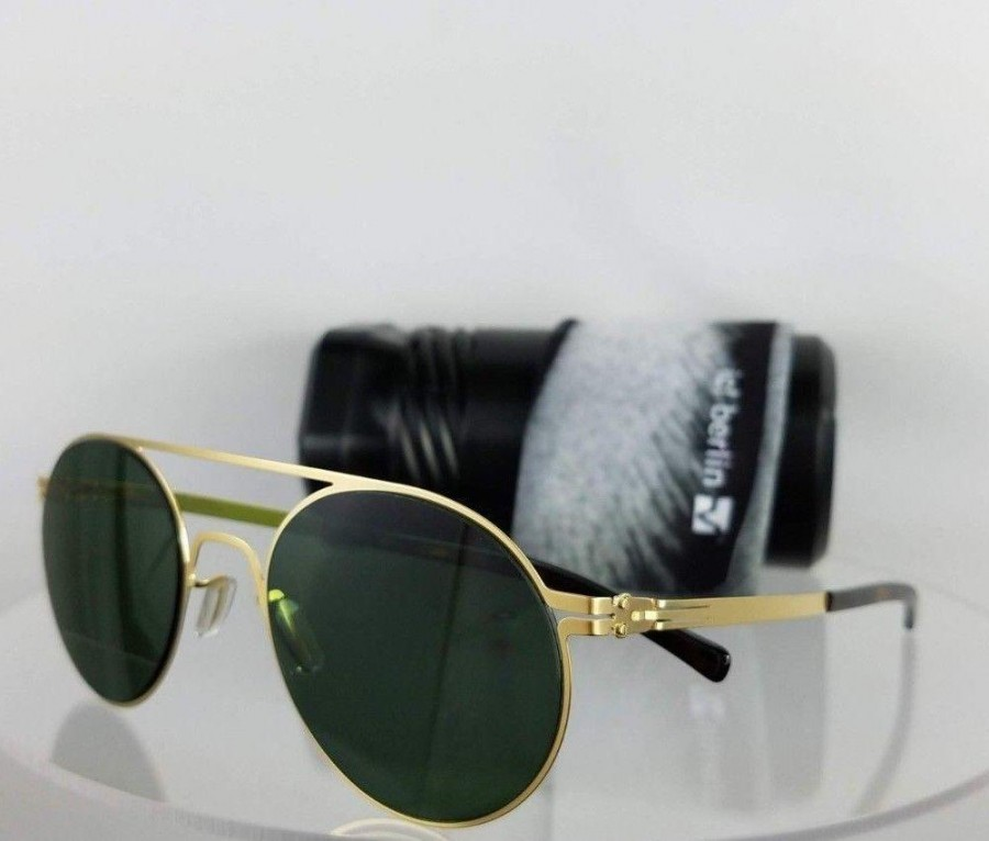 IC! Berlin Hubert W.Matte Gold Sunglasses