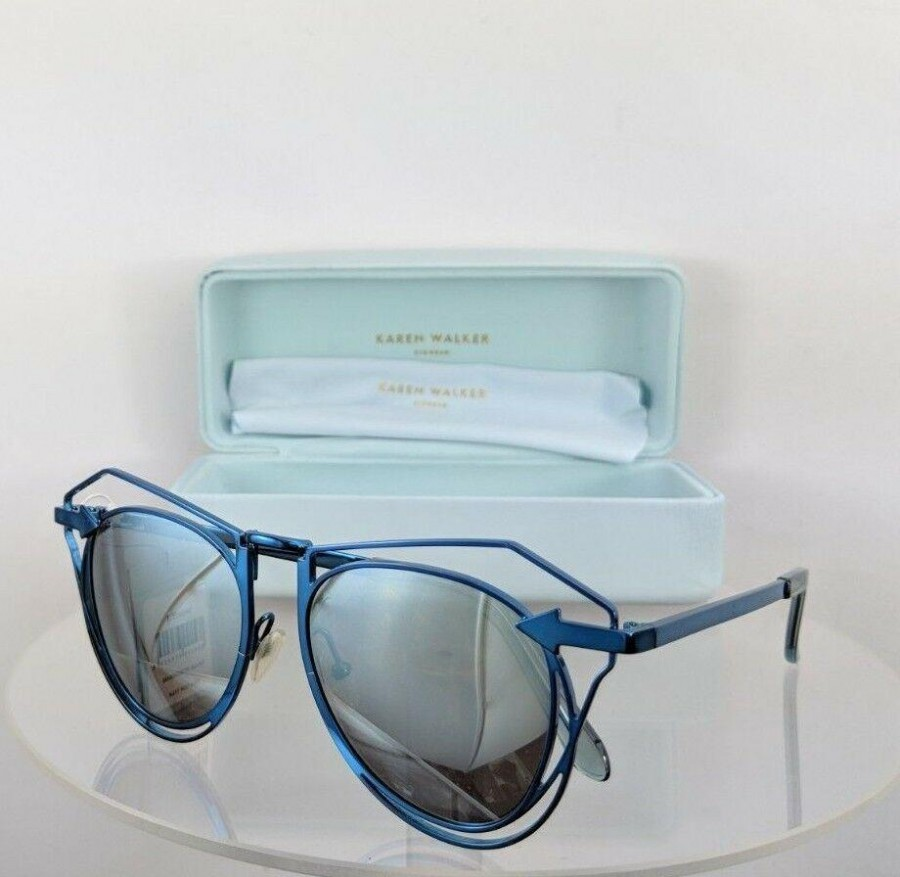 Karen Walker Simone Blue Sunglasses