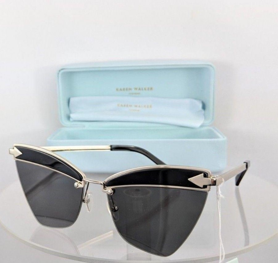 Karen Walker Sadie Black Gold Sunglasses
