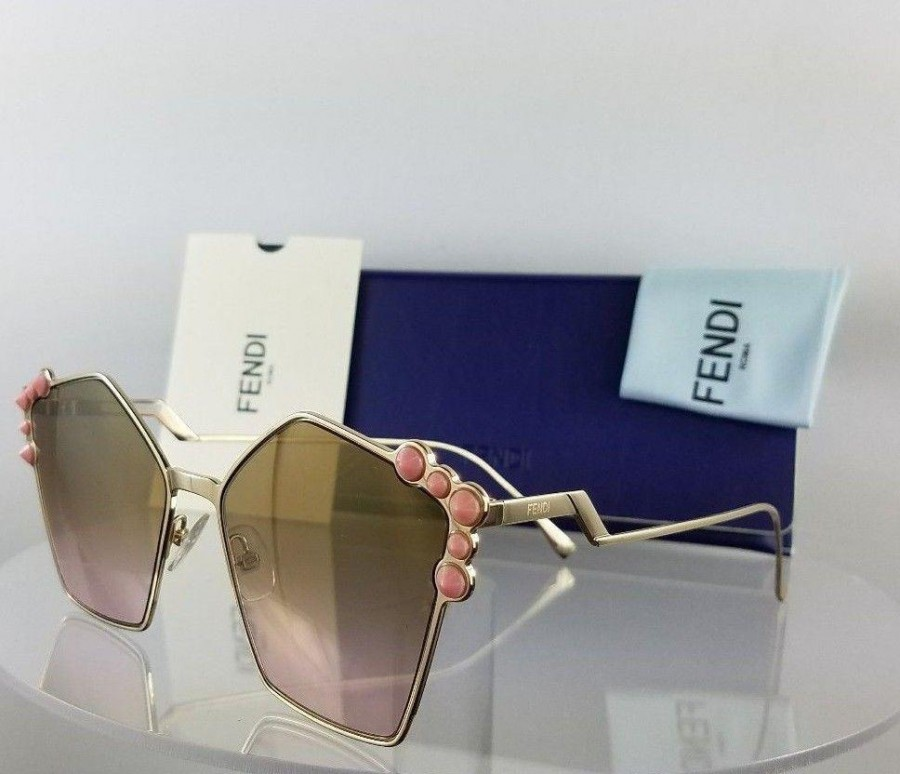 Fendi FF 0261/S 00053 Gold Pink Sunglasses