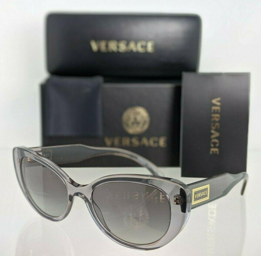 Versace VE 4378 593/11 Clear Gray Sunglasses