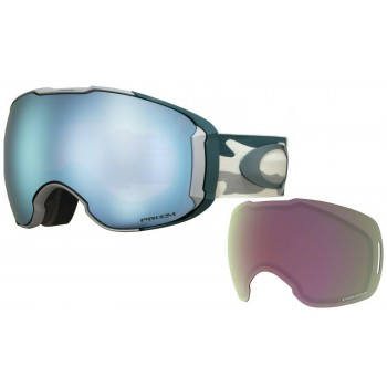 Oakley OO7071 37 White & Blue Snow Goggles