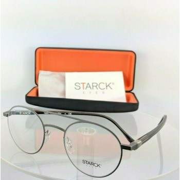 Starck Eyes Sh 2029 0001 Grey Black Eyeglasses