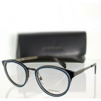 Diesel DL 5154 052 Denim & Antique Gold and Brown Tortoise Eyeglasses