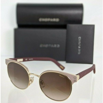 Chopard SCHB70S 0358 Burgundy & Gold Sunglasses