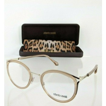 Roberto Cavalli Marciano RC5070 045 Gold & Clear Pink Eyeglasses