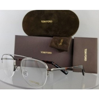 Tom Ford FT 5450 012 Grey/Silver Tortoise Eyeglasses