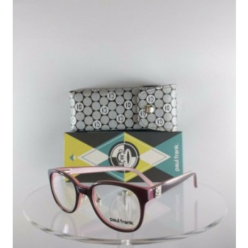 Brand New Authentic Paul Frank Eyeglasses Mister Pleasant RX95 Gray Pink Frame