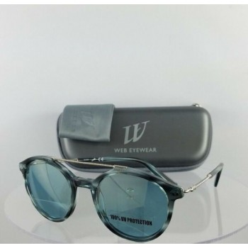 Brand New Authentic Web Sunglasses WE 185 Col. 92W Blue SIlver 50mm Frame 0185