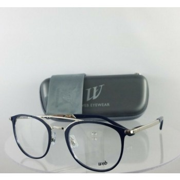Brand New Authentic Web Eyeglasses WE 5243 Col. 016 Navy Silver 50mm