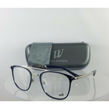 Brand New Authentic Web Eyeglasses WE 5241 Col. 080 Navy Silver 49mm