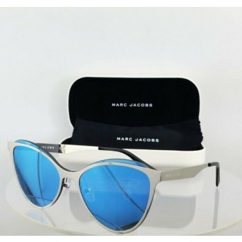 Brand New Authentic Marc Jacobs 198/S 0103J Silver Frame Blue Lenses 99Mm 198