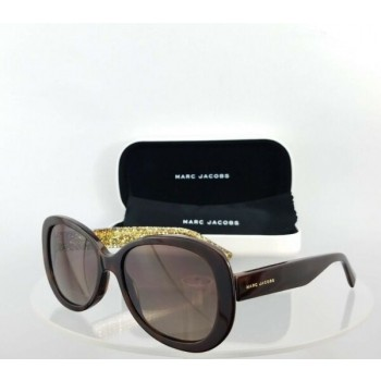 Brand New Authentic Marc Jacobs Sunglasses 261/S Dxhla Brown Glitter Frame 56Mm