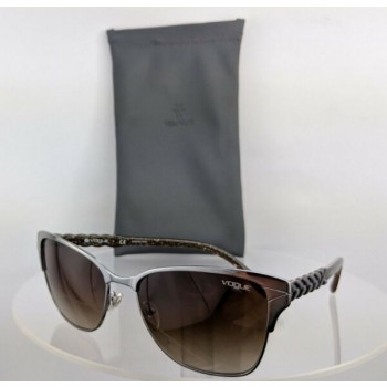 Brand New Authentic Vogue Sunglasses Vo 3949-S 548/13 Silver Brushed Frame 3949