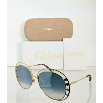 Brand New Authentic Chloe Sunglasses CE 169S 816 57mm Brown Gold 169 Frame