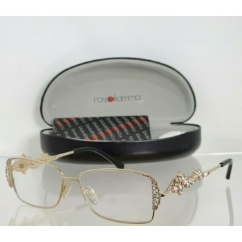 Brand New Authentic Rosso Fiamma Eyeglasses 22KT MERY C1 Gold Plated Frame
