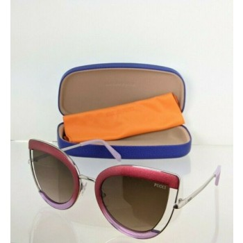Brand New Authentic Emilio Pucci Sunglasses EP 100 77F Blend Frame EP100 54mm