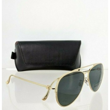 Brand New Authentic Bally Sunglasses BY 0024 30N BY0024-D 61mm Gold Frame