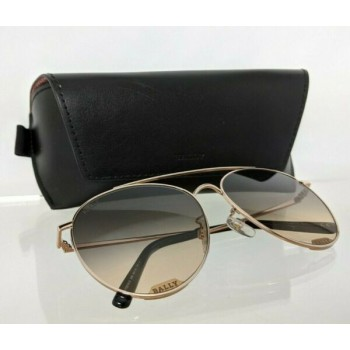 Brand New Authentic Bally Sunglasses BY 0016 28B BY0016-D 60mm Gold Frame