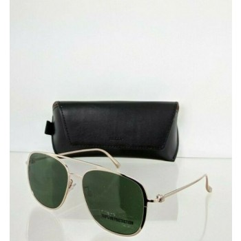 Brand New Authentic Bally Sunglasses BY 0025 28N BY0025-D 58mm Gold Frame