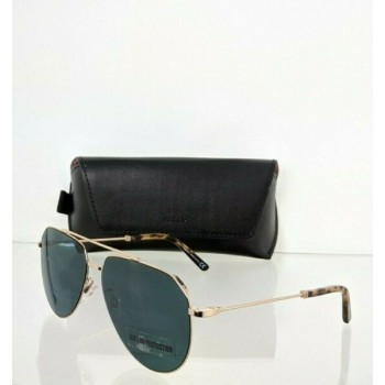 Brand New Authentic Bally Sunglasses BY 0007 28N BY0007-D 62mm Gold Frame