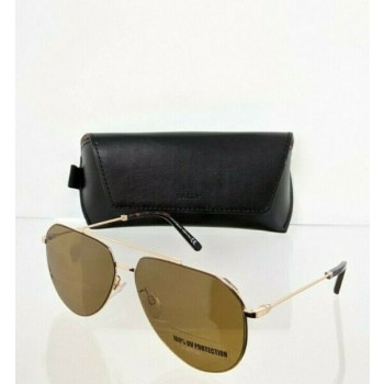 Brand New Authentic Bally Sunglasses BY 0007 28E BY0007-D 62mm Gold Frame