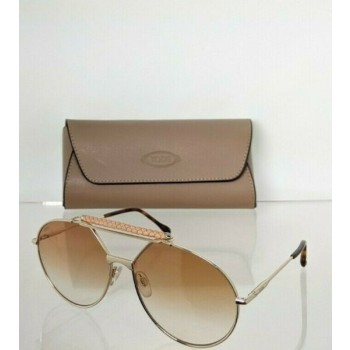 Brand New Authentic Tod's Sunglasses TO 235 32F 59mm Gold Frame TO235