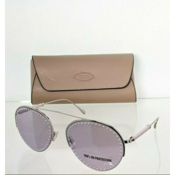 Brand New Authentic Tod's Sunglasses TO 234 16Y 60mm Silver Frame TO234