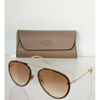 Brand New Authentic Tod's Sunglasses TO 283 32F 58mm Gold Frame TO283
