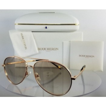 Boucheron BC 0003S 004 Rose Gold Sunglasses