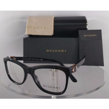 Bvlgari 4101-B 501 Black Rose Pink Gold Eyeglasses