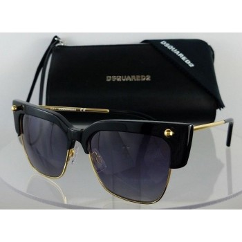 Dsquared 2 DQ 0279 Federica 01B Black Sunglasses