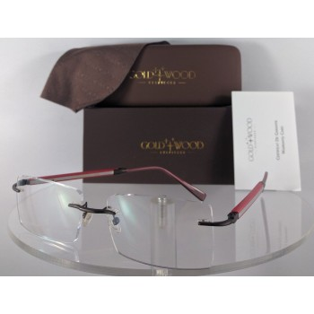 Gold and Wood N10 60 RcA47 Red Eyeglasses