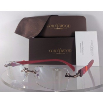 Gold & Wood R30 28 Rc37 Red Eyeglasses