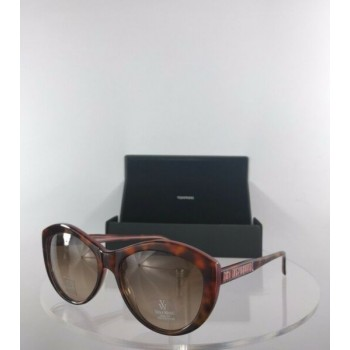 Brand New Authentic Vera Wang Sunglasses Agnella TO Crystal Tortoise Frame