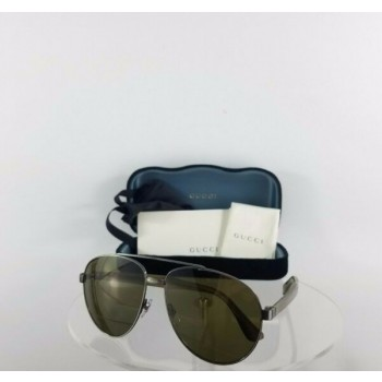 Brand New Authentic Gucci GG 0054 003 Olive Green Sunglasses GG0054 Frame