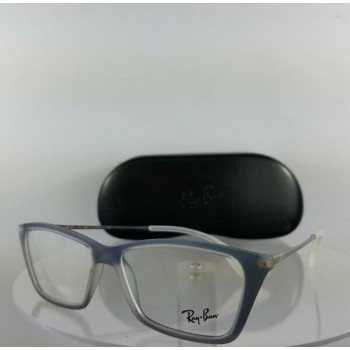 Brand New Authentic Ray Ban RB 7022 Eyeglasses RB 7022 5496 Blue Silver Frame