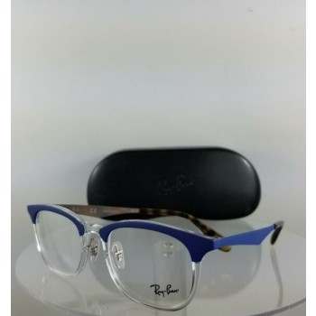 Brand New Authentic Ray Ban RB 7112 Eyeglasses RB 7112 5684 Blue Clear